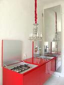 Uma parte do interior de uma cozinha — Fotografia Stock