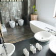 Interior of bathroom — Stockfoto