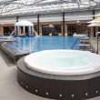 Swimming pools in a spa hotel in the attic — Stock Photo #5082215