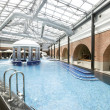 Swimming pools in a spa hotel in the attic — Stock Photo #5082497