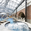 Stock Photo: Swimming pools in a spa hotel in the attic