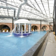 Swimming pools in a spa hotel in the attic — Stock Photo