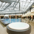 Swimming pools in a spa hotel in the attic — Stock Photo #5083336
