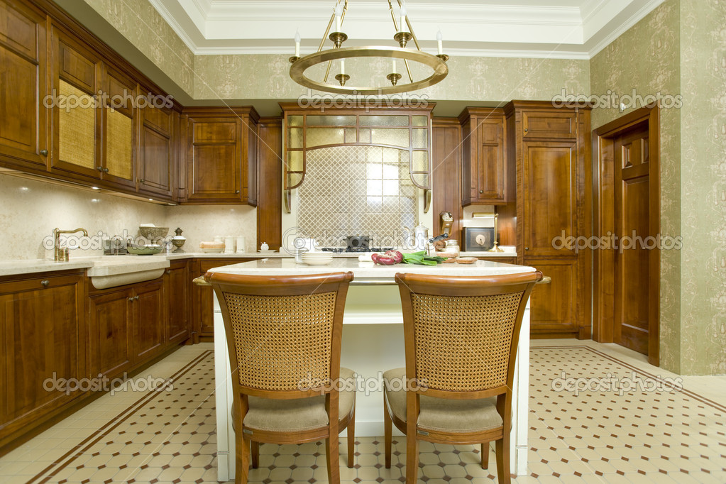 Interior of a kitchen and dinning room   Stock Photo #5297117
