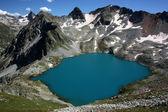 Highest in Europe, Lake Blue Murudzhinskoe — Stock Photo