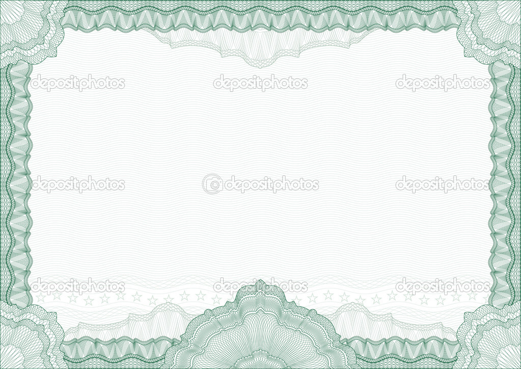 Classic guilloche border for diploma or certificate with protective ornament. Vector. A4 , CMYK color . Layers are separated! Editing is easy — Stock Vector #5287436