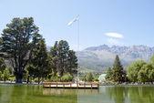 Landscape with lake — Stock Photo