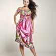 Foto Stock: Pink sundress