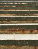 Grungy stairs made out of metal and concrete — Stock Photo