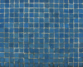 Blue mosaic tiles on a wall — Stock Photo