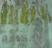 Blue green metal grunge with peeling paint — Stock Photo