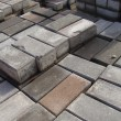 Stack of rectangular pavement stones — Stock Photo #4272367