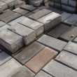 Stock Photo: Stack of rectangular pavement stones