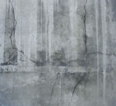 Large section of a dirty grunge gray wall with white leaks and c — Stock Photo