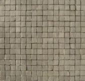 White gray mosaic pattern on a wall with some depth — Stock Photo