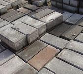 Stack of rectangular pavement stones — Stock Photo