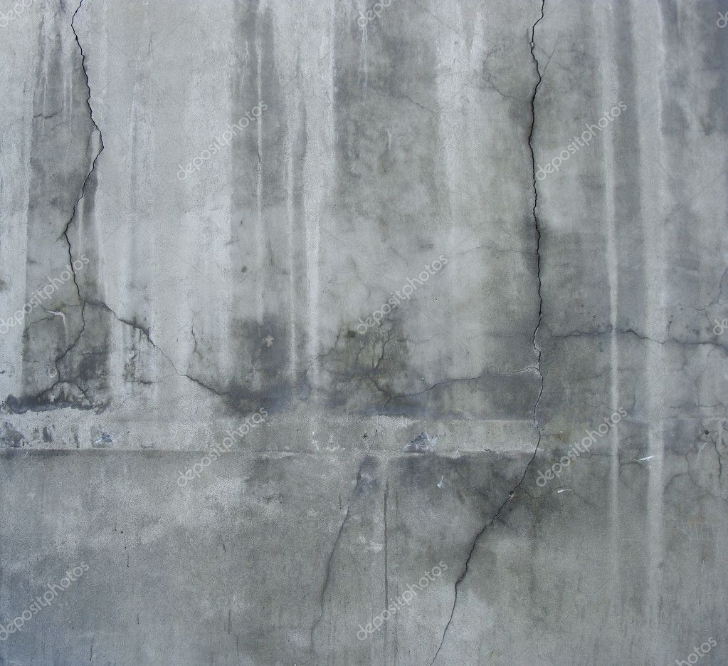 Large Section Of A Dirty Grunge Gray Wall With White Leaks