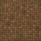Large 3d render of an orange smooth stone mosaic wall floor — Stock Photo