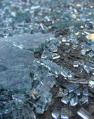 Accident crash shattered glass from car window — Stock Photo