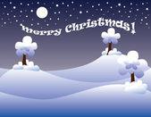 Christmas postal — Stock Vector