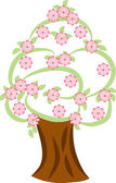 Tree in spring — Stock Vector