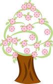 Drzewo na wiosnę — Wektor stockowy