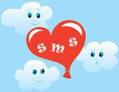Liefde sms — Stockvector