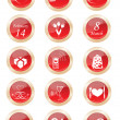 Set buttons — Stock Vector