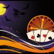 Casino halloween card, vector — Stock Vector