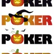 Halloween poker. vector illustration — Stock Vector