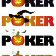 Halloween poker. vector illustration - Stok Vektör