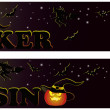 Casino halloween banners, vector - Stok Vektr
