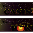 Set Casino halloween banners, vector — Stock Vector #3935820