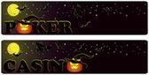 Casinò halloween banners, vettoriale — Vettoriale Stock