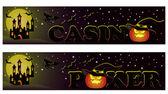 Set Casino halloween banners, vector — Stock Vector