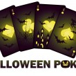 Halloween poker cards, vector illustration - 图库矢量图片