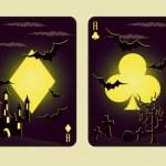 Set Halloween poker cards, vector — Stock Vector #3956517