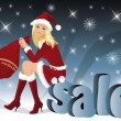 Christmas sale. vector — Stock Vector #3994424