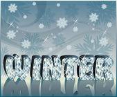 Diamond word Winter in 3D image, vector — Stock Vector
