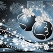 Royalty-Free Stock Vector Image: Winter background with Christmas balls, vector