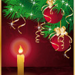 Merry Christmas greeting card. vector illustration - Stok Vektör