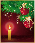 Feliz navidad tarjeta de felicitación. ilustración vectorial — Vector de stock