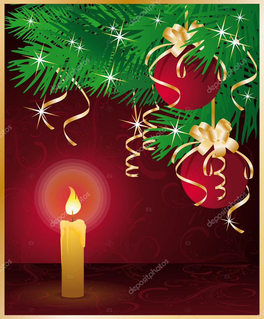 Merry Christmas greeting card. vector illustration  Stock Vector #4057753