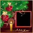 Stock Vector: Christmas frame for photo . vector