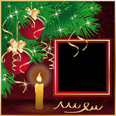 Christmas frame for photo . vector — Stock Vector
