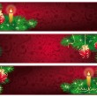 Christmas banners. vector — Stock Vector
