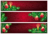 Christmas banners. vector — Stock Vector