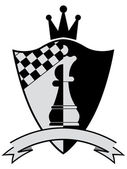 Chess crest. Vector illustration — Stock Vector