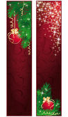 Vertical christmas banners. vector illustration — Stock Vector