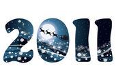 Christmas card 2011 new year. vector illustration — Stock Vector